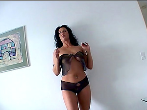 marvelous blonde in undergarments drilled in gonzo interracial