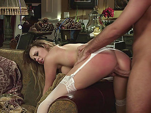 Sexy nurse with big tits luving an awesome rear end style fuck