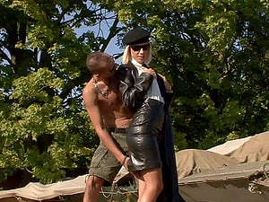 Angelina Love rails a dick outdoors in CFNM fuck-a-thon movie