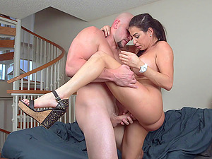Big-assed Julianna Vega blows and luvs rear end style pounding