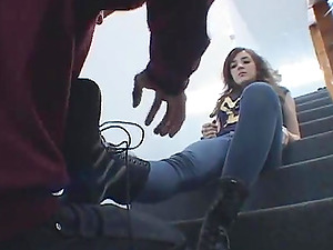 Jenna ambles on stud in female dom movie and gets toes gobbled
