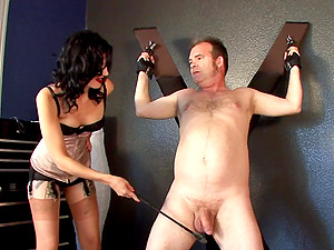 Ball busting and nasty spanking scene with sexy pornography sweetie Nyxon