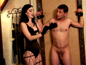Ardent ball busting act with sizzling dark haired Mina Meow