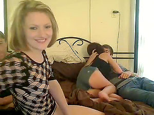 First-timer Orgy with Two Horny Teenagers