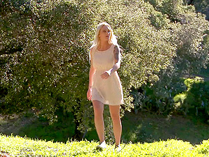 Cheating wifey finds her stud in the forest and fucks his brains out