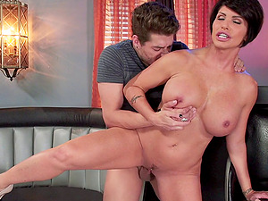 Mom shows the decent way to idolize a big shaft stud