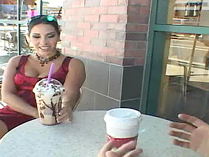 Sexy dark haired yells noisy with a chunky penis plunged in her cunt hard-core