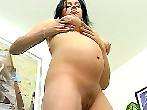 Big-chested Knocked up Black-haired Big Tits Tart Worth a Hard Fuck