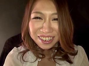 Mischievous self handballing Japanese lady has a lubricious vagina