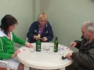 Kinky nubile and an fledgling granny share an old fart