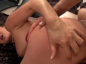 Faux tit cougar providing a sensuous tit job before receiving jizm on tits