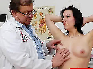 Horny black-haired gets her vagina jammed with fucktoys hard-core