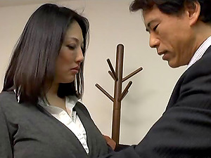 Old fart fucks a flawless Japanese Mummy as hard as he can