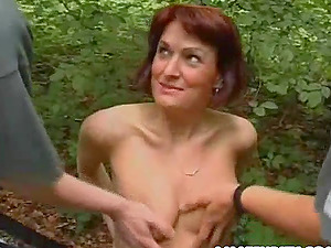 Her thirsty cunt needs a hard rod,see this sandy-haired in kinky forest hookup