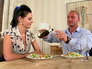Making her dinner always puts her in a mood for a fuck