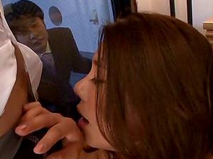 Arousing sadism & masochism fetish groupsex shoot with big tits Japanese stunner