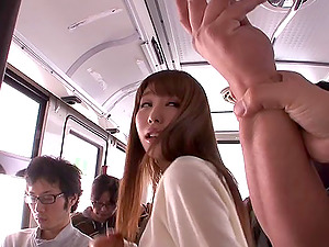Comilation that embark and completes with hot act in public transportation