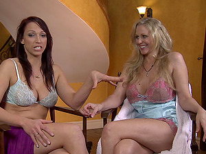 Julia Ann talks about sapphic bang-out before having it with a stunner
