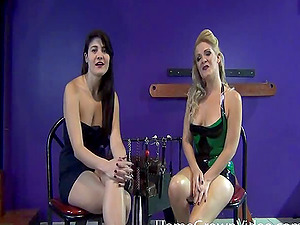 Lesbian domination lessons for a pretty female that submits to her mistress