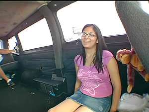 Unemployed ultra-cutie gets picked up by a bangbus