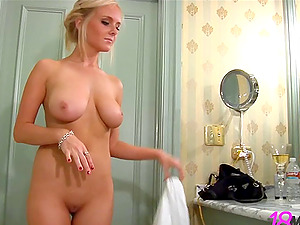 Get in the bubble bath with a big boobed blonde princess