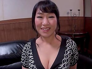 Japanese tits lactate on his manstick before she gargles him