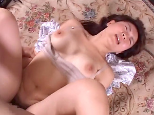 Bashful first-timer honey in glasses blows a massive rod and get her hairy twat get a fierce fucking