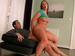Oiled up female gets her snatch fucked truly hard