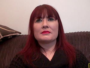 Chubby mature ginger-haired in bodystockings is a dick loving bitch