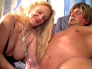 Two mature women meet up with a dude for a hot threesome
