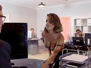 Coworkers witness a big shaft man have hookup with a whore