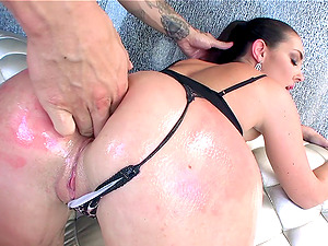 After an clyster she gets her big, round bum fucked hard