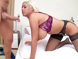 Big butt honey sucking ahead of a rough doggystyle pulsating