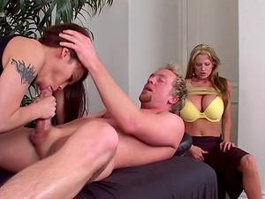 Kelly and Luci combine the thick dick with some crazy stimulations