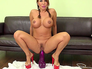 Massive fake penises up the asshole of sexy Ava Devine