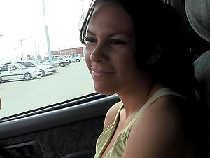 Bj in the parking lot from a hot lips dark-haired chick