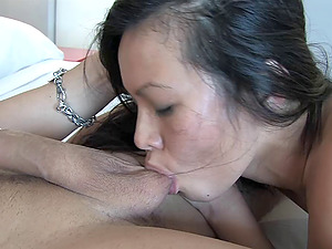 Lady Mai is a ball sucking, manstick railing Asian fuck machine