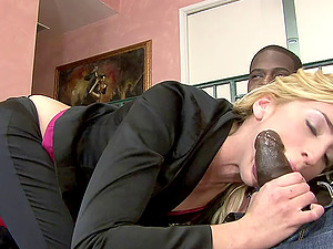 Close up interracial on a black dick fucking her whorish culo