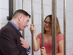 Lawyer and his jailed customer fucking during a meeting