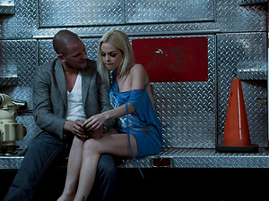 Horny fireman fucks the gorgeous blonde that loves his big dick