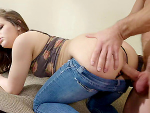 Fine culo and diminutive titties on a xxx black-haired tramp