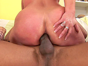 Mature asshole opened up and used by a big black man sausage