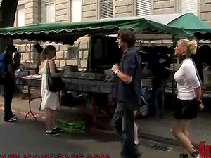 Blonde Chick Fucked Hard in Public