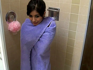 Bathroom invasion session for one of the best Latinas ever
