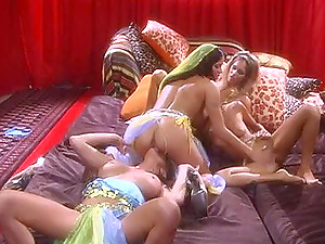 Thick g/g orgy with the ladies who know how to use the hookup playthings