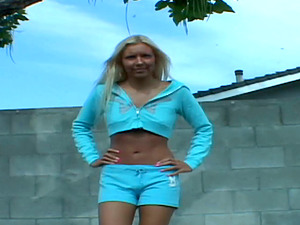 This blonde expects to be drilled like never before in her life