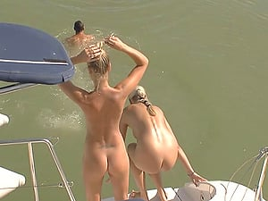 Petite chicks getting bonked on the luxurious yacht