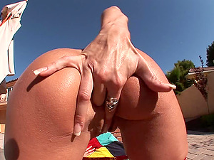 Lusty blonde with massive melons Michelle McClarin gets fucked hard