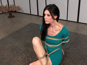 Prettiest dark-haired honey is a plaything for her horny black captor