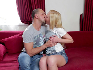 Tempting and petite Angie Koks begs for a decent assfuck ramming